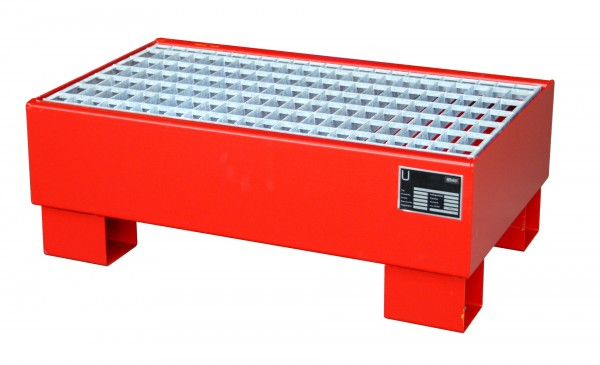 AW 60-1/M, lackiert - feuerrot 800x500x290mm, 2 x 60-l-Fässer, 61 Liter