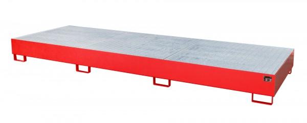 AW 1000-3, lackiert - feuerrot 3850x1300x340mm, 3 x 1000-l-IBC, 1000 Liter