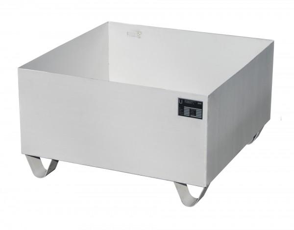 VAW-1, Edelstahl 800x800x465mm, 1 x 200-l-Fass, 210 Liter, ohne Gitterrost