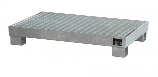 AW 60-3/M, feuerverzinkt 1300x800x205mm, 6 x 60-l-Fässer, 74 Liter