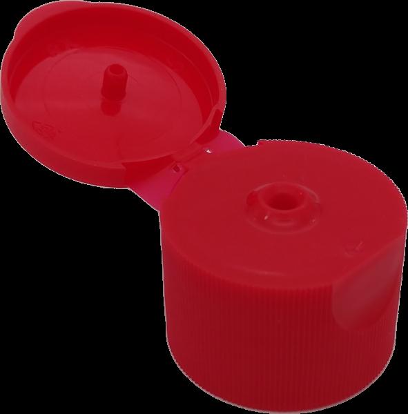 Klappscharnierverschluß RD 25 rot PP, 3mm Öffnung