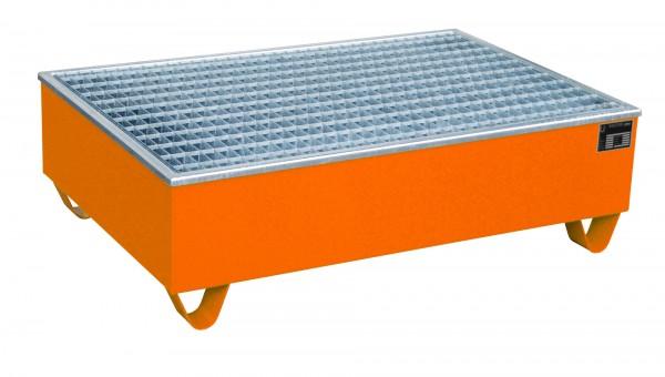 AW-2/PE, lackiert - gelborange 1215x815x365mm, 2 x 200-l-Fässer, 210 Liter