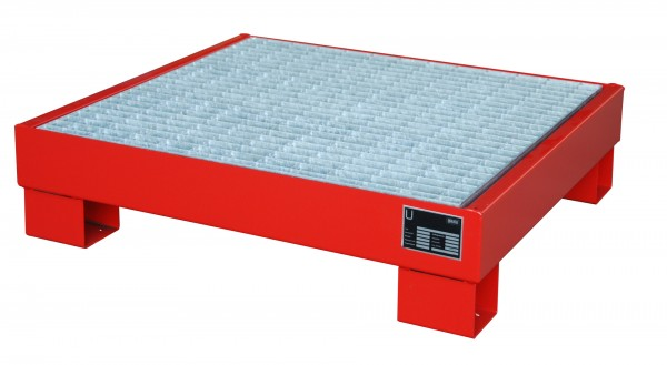 AW 60-2/M, lackiert - feuerrot 900x800x220mm, 4 x 60-l-Fässer, 61 Liter