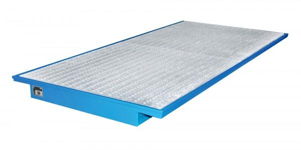 EHW 2700, lackiert - lichtblau 2650x1250/915x130mm, Trägerlänge 2700mm, 200 Liter
