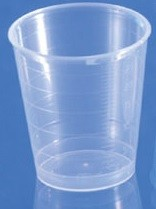 Messbecher / Dosierbecher aus PP natur, 30 ml mit Skala, Beutel = 75 Stück