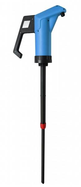 JP-04-2 blau für Mineralölprodukte (NBR) 0,3 l/Hub., Saugrohr 500–900 mm, 34 mm Durchmesser