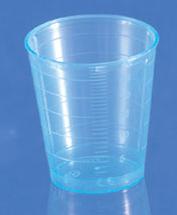 Messbecher / Dosierbecher aus PP blau, 30 ml mit Skala, Beutel = 75 Stück