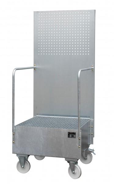 FA mit Lochplattenwand LPW 200-1, feuerverzinkt 800x800x610mm, 1 x 200-l-Fass, 203 Liter