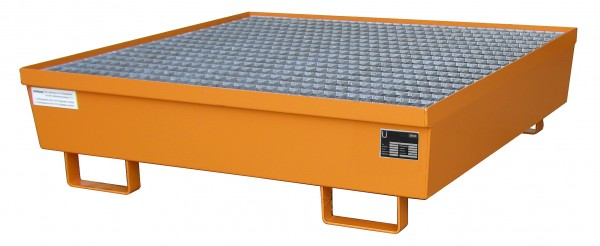 AM-4/A, lackiert - gelborange 1200x1200x335mm, 4 x 200-l-Fässer, 245 Liter
