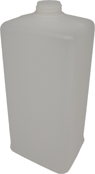 Eurospenderflasche 1000ml HDPE, natur, eckig, ohne Verschluss
