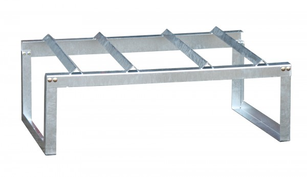 Fassauflage FA 200-2, feuerverzinkt 1155x775x445mm, 2 x 200-l-Fässer