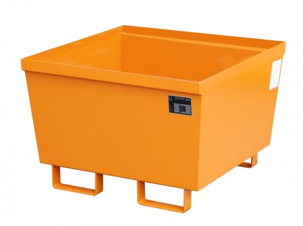 AO-1, lackiert - gelborange 800x800x545mm, 229 Liter