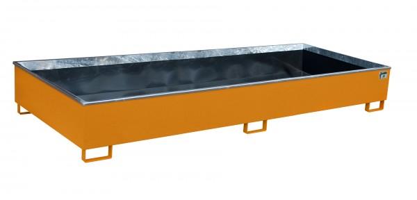 RW 3300-3 PE, lackiert - gelborange 3265x1315x385mm, Trägerlänge 3300mm, 1000 Liter