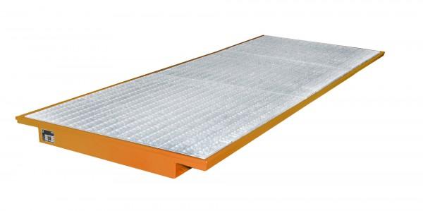 EHW 3600, lackiert - gelborange 3550x1250/915x115mm, Trägerlänge 3600mm, 260 Liter