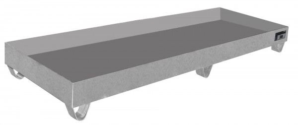 VAW-4/B, Edelstahl 2400x800x250mm, 4 x 200-l-Fässer, 241 Liter, ohne Gitterrost