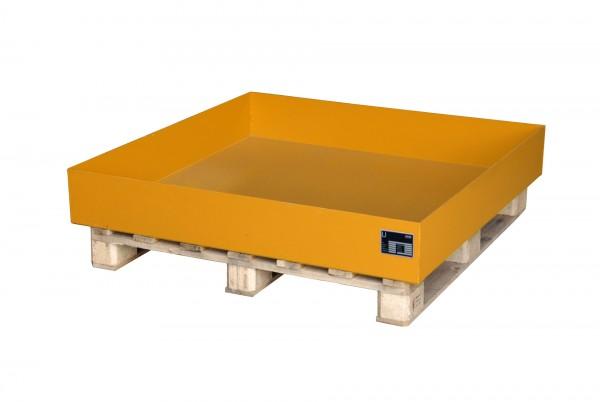 AW 2026, lackiert - gelborange 1200x1200x185mm, 230 Liter