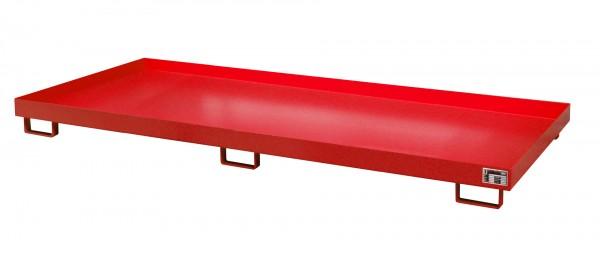 RW 3300-1, lackiert - feuerrot 3250x1300x190mm, Trägerlänge 3300mm, 240 Liter