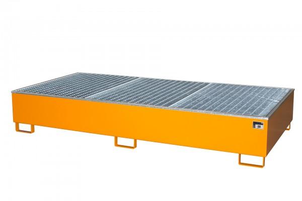 AW 1000-2/PE, lackiert - gelborange 2665x1315x440mm, 2 x 1000-l-IBC, 1000 Liter