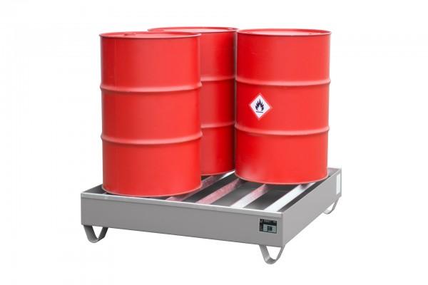 PW 200-4, feuerverzinkt 1200x1200x285mm, 4 x 200-l-Fässer, 230 Liter