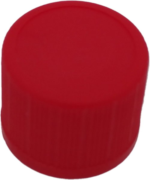 Schraubverschluss RD 18, PP, rot mit Innenkonus