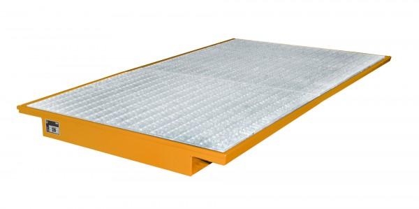 EHW 2200, lackiert - gelborange 2150x1250/915x140mm, Trägerlänge 2200mm, 200 Liter