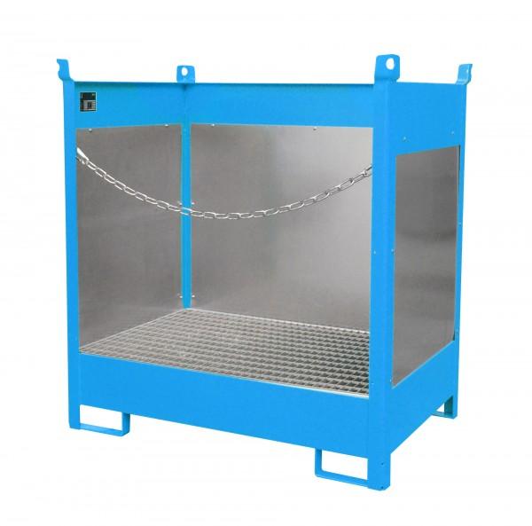FSP-2 G, lackiert - lichtblau 920x1410x1495mm, 2 x 200-l-Fässer, 210 Liter