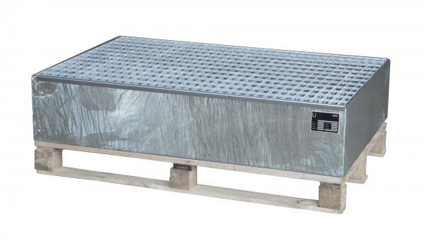 AW 2011, feuerverzinkt 1200x800x260mm, 2 x 200-l-Fässer, 215 Liter