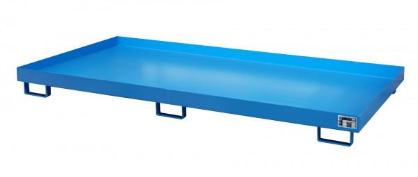 RW 2700-1, lackiert - lichtblau 2650x1300x210mm, Trägerlänge 2700mm, 240 Liter