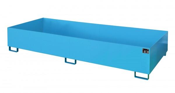 RW 3300-3, lackiert - lichtblau 3250x1300x380mm, Trägerlänge 3300mm, 1000 Liter