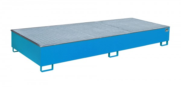 RW-GR 3300-3 PE, lackiert - lichtblau 3265x1315x385mm, Trägerlänge 3300mm, 1000 Liter