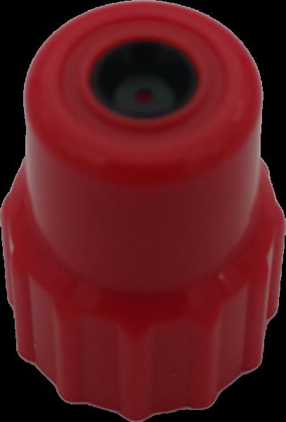Düsenmutter mit Düse, PA, KST 0,8mm, rot für Druckpumpzerstäuber lösemittelbest., 00431705