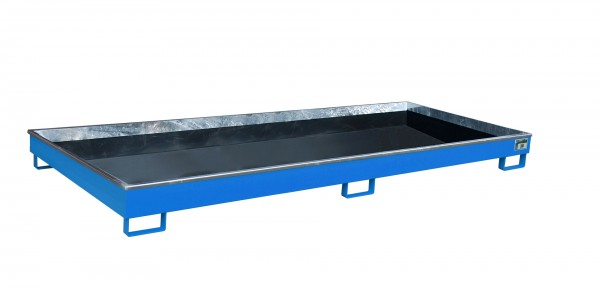 RW 3300-1 PE, lackiert - lichtblau 3265x1315x195mm, Trägerlänge 3300mm, 240 Liter
