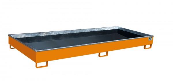 RW 3300-2 PE, lackiert - gelborange 3265x1315x270mm, Trägerlänge 3300mm, 540 Liter