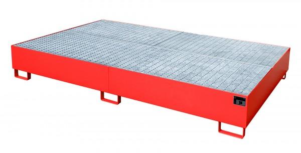 AW 1000-10F, lackiert - feuerrot 2690x1650x375mm, 10 x 200-l-Fässer, 2 x 1000-l-IBC, 1000 Liter