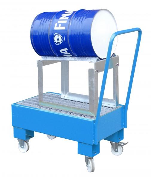 FA AW 60-1 SRF, lackiert - lichtblau 800x500x415mm, 1 x 60-l-Fass, 61 Liter