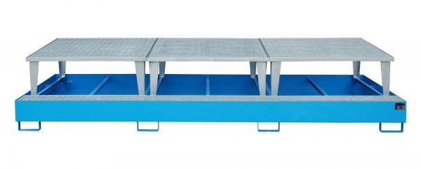 AWA 1000-3, lackiert - lichtblau 2650x1460x780mm, 3 x Abfüllaufsatz, 3 x 1000-l-IBC, 1000 Liter
