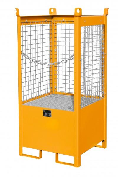 FSP-1 D, lackiert - gelborange 760x760x1590mm, 1 x 200-l-Fass, 210 Liter