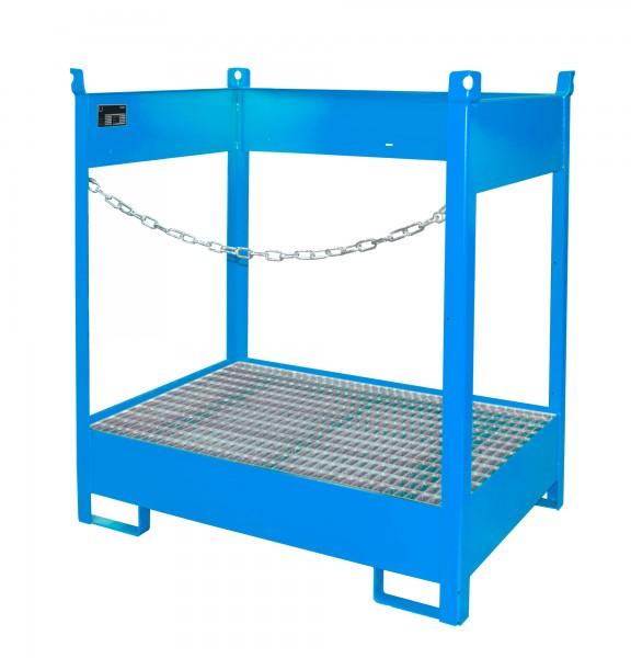 FSP-2, lackiert - lichtblau 920x1410x1495mm, 2 x 200-l-Fässer, 210 Liter