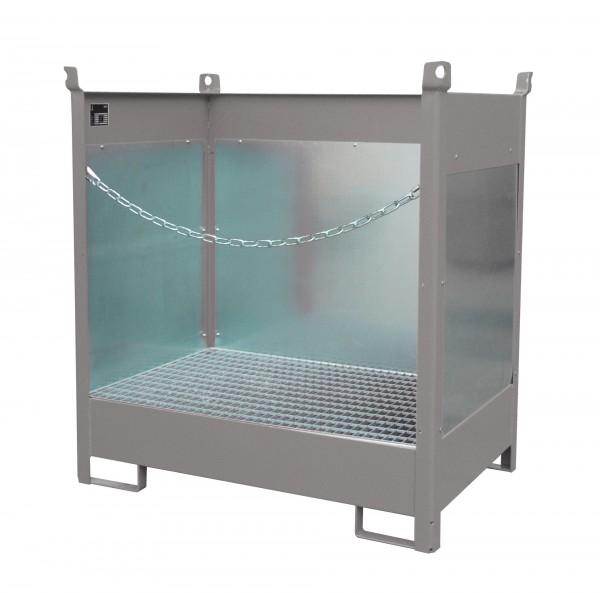 FSP-2 G, feuerverzinkt 920x1410x1495mm, 2 x 200-l-Fässer, 210 Liter
