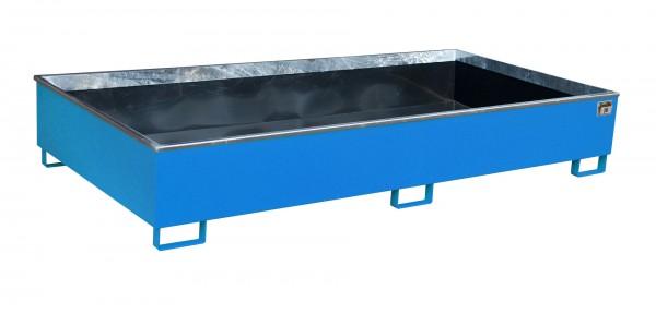 RW 2700-3 PE, lackiert - lichtblau 2665x1315x440mm, Trägerlänge 2700mm, 1000 Liter
