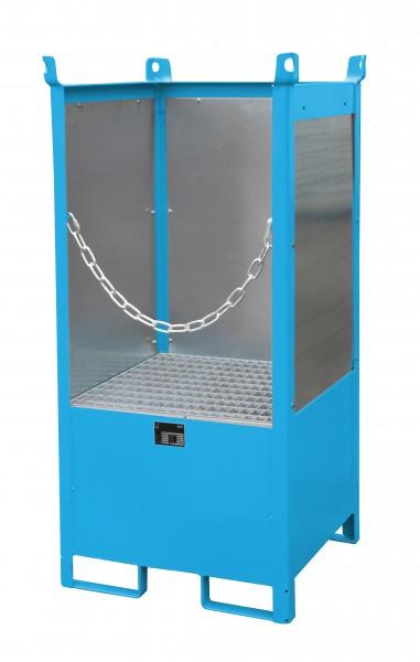 FSP-1 G, lackiert - lichtblau 760x760x1590mm, 1 x 200-l-Fass, 210 Liter