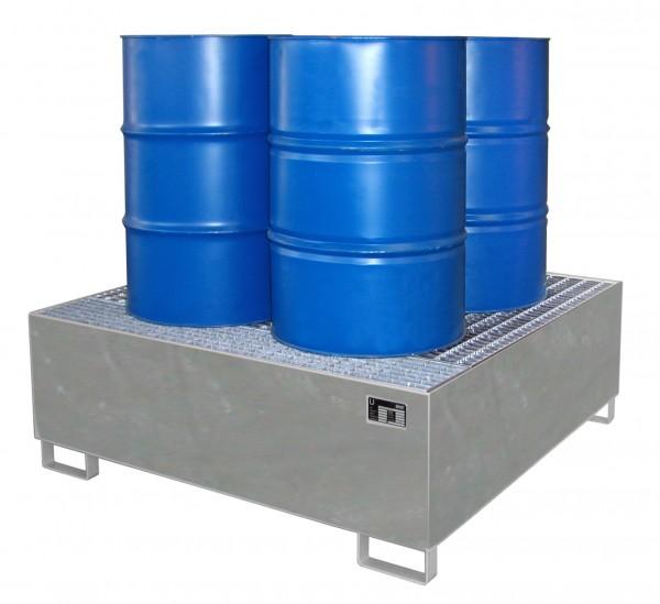 AW 800, feuerverzinkt 1460x1460x525mm, 4 x 200-l-Fässer, 800 Liter