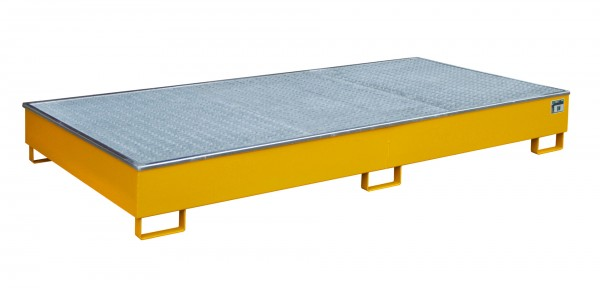 RW-GR 2700-2 PE, lackiert - gelborange 2665x1315x305mm, Trägerlänge 2700mm, 540 Liter