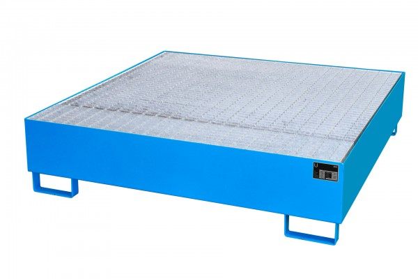 AW 450, lackiert - lichtblau 1460x1460x355mm, 4 x 200-l-Fässer, 450 Liter