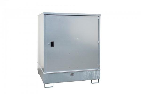 Gefahrstoff-Schrank GS-3, feuerverzinkt 1475x1460x1805mm, 1 Tür, 4 x 200-l-Fässer, 4687 Liter