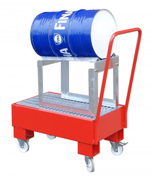 FA AW 60-1 SRF, lackiert - feuerrot 800x500x415mm, 1 x 60-l-Fass, 61 Liter