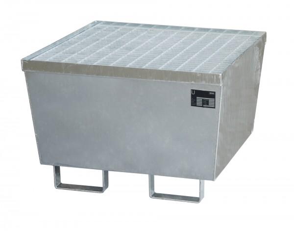 AM-1, feuerverzinkt 800x800x545mm, 1 x 200-l-Fass, 215 Liter