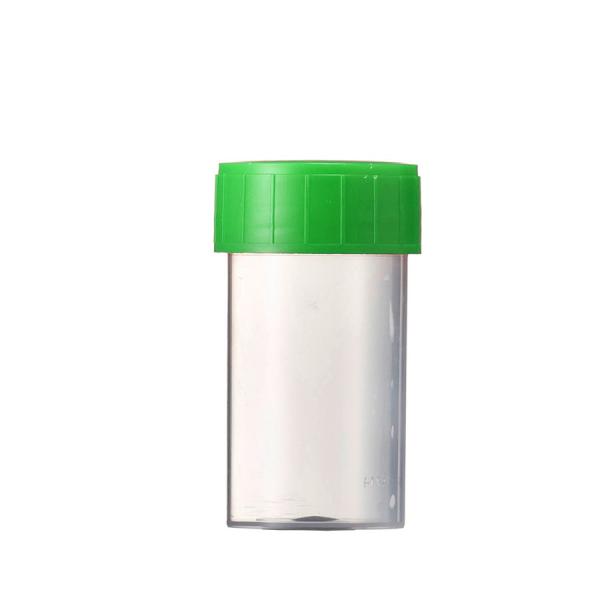 Probenbehälter PP, 60 ml mit Schraubdeckel grün, VE = 70 Stück