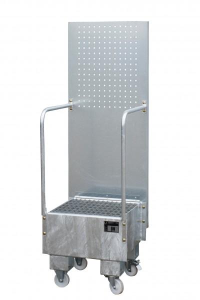 FA mit Lochplattenwand LPW 60-1, feuerverzinkt 500x500x505mm, 1 x 60-l-Fass, 60 Liter