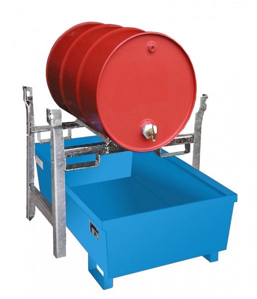 Fassregalwanne FRA-1, lackiert - lichtblau 1200x800x415mm, 246 Liter